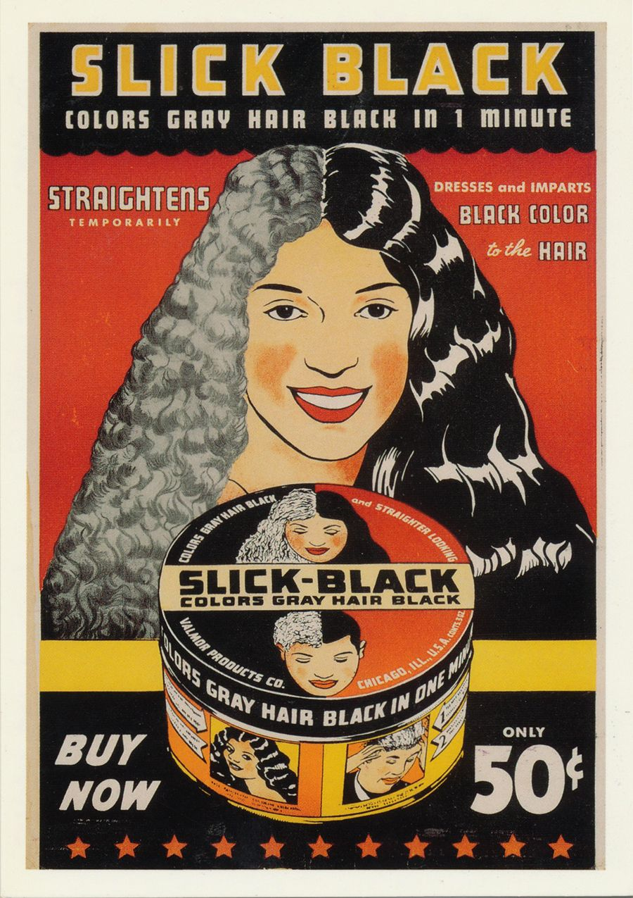 A 1950s ad with good news from Susie Black hair history