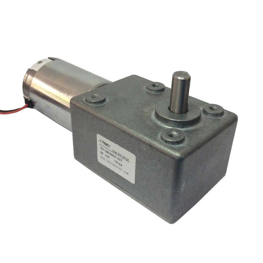 DC12V10RPM High-torque Worm Reducer Geared Motor,Low Speed Gearbox ...