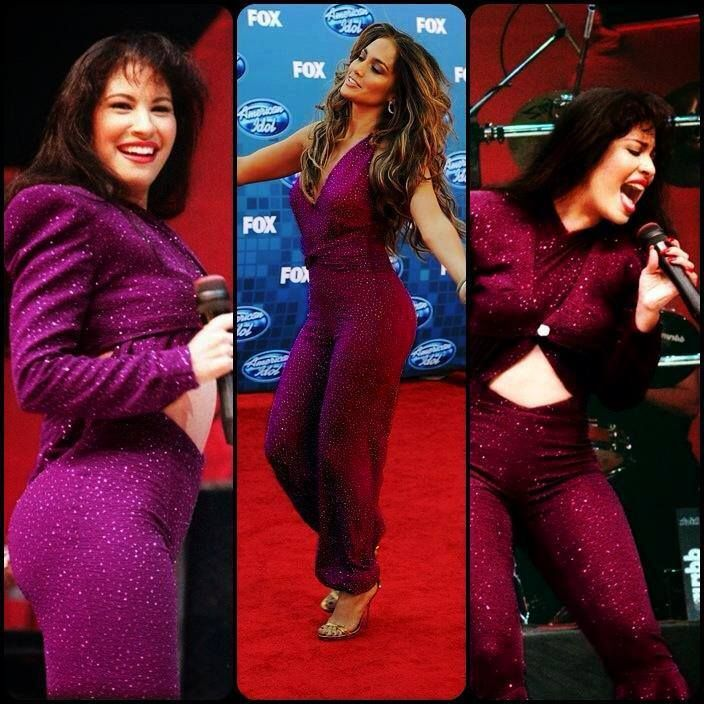 Jennifer Lopez in a Selena Inspired outfit - love Selena ... Selena Quintanilla Vs Jennifer Lopez Outfits