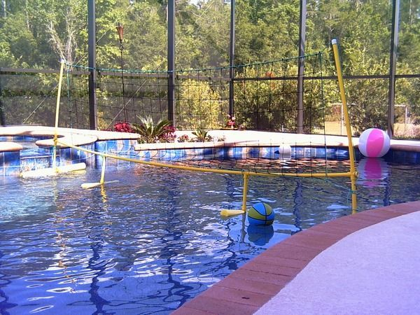 Diy Floating Pool Volleyball Net Pool Volleyball Net Pool Diy Pool