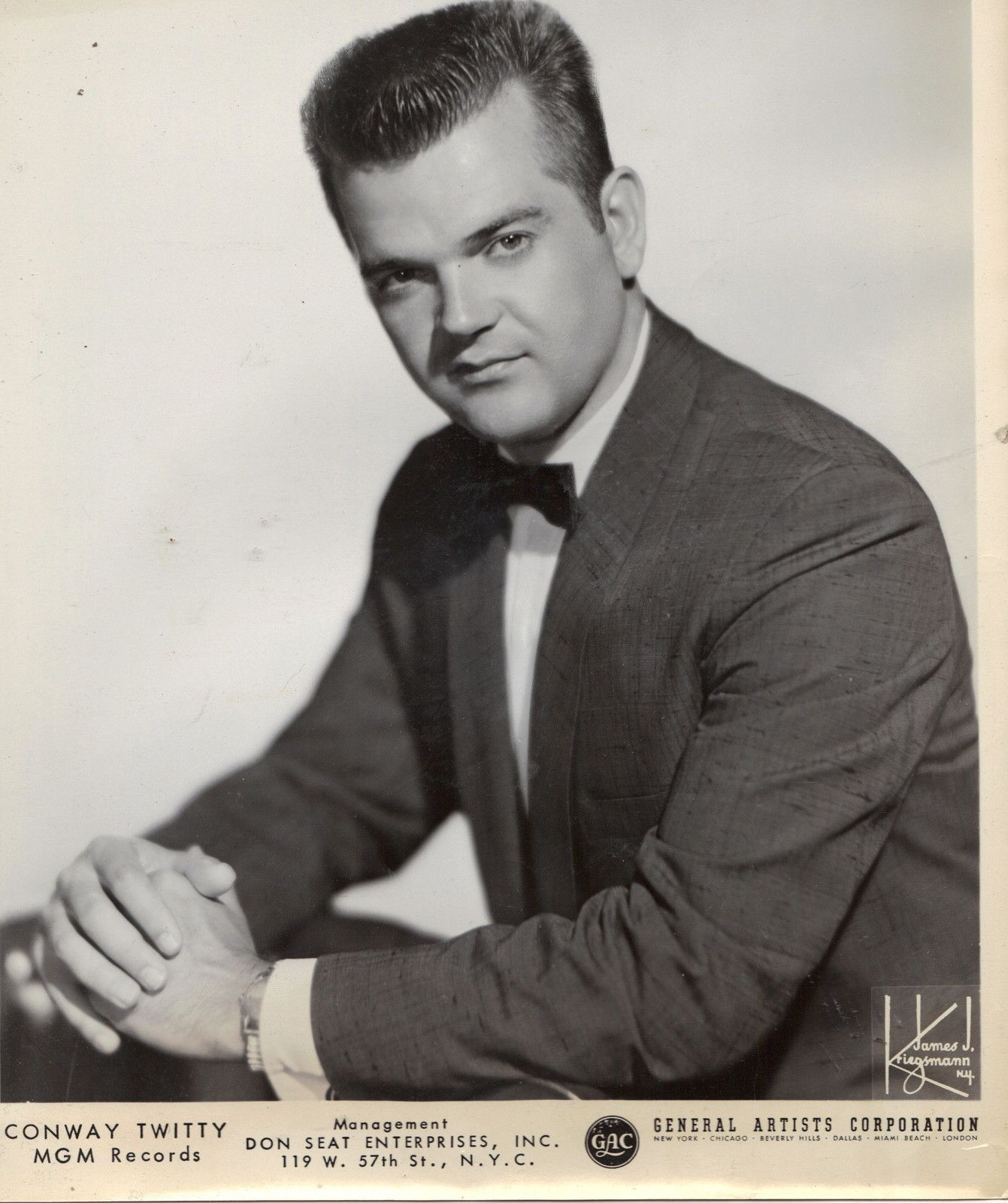 Conway twitty 1960 publicity photo conway twitty