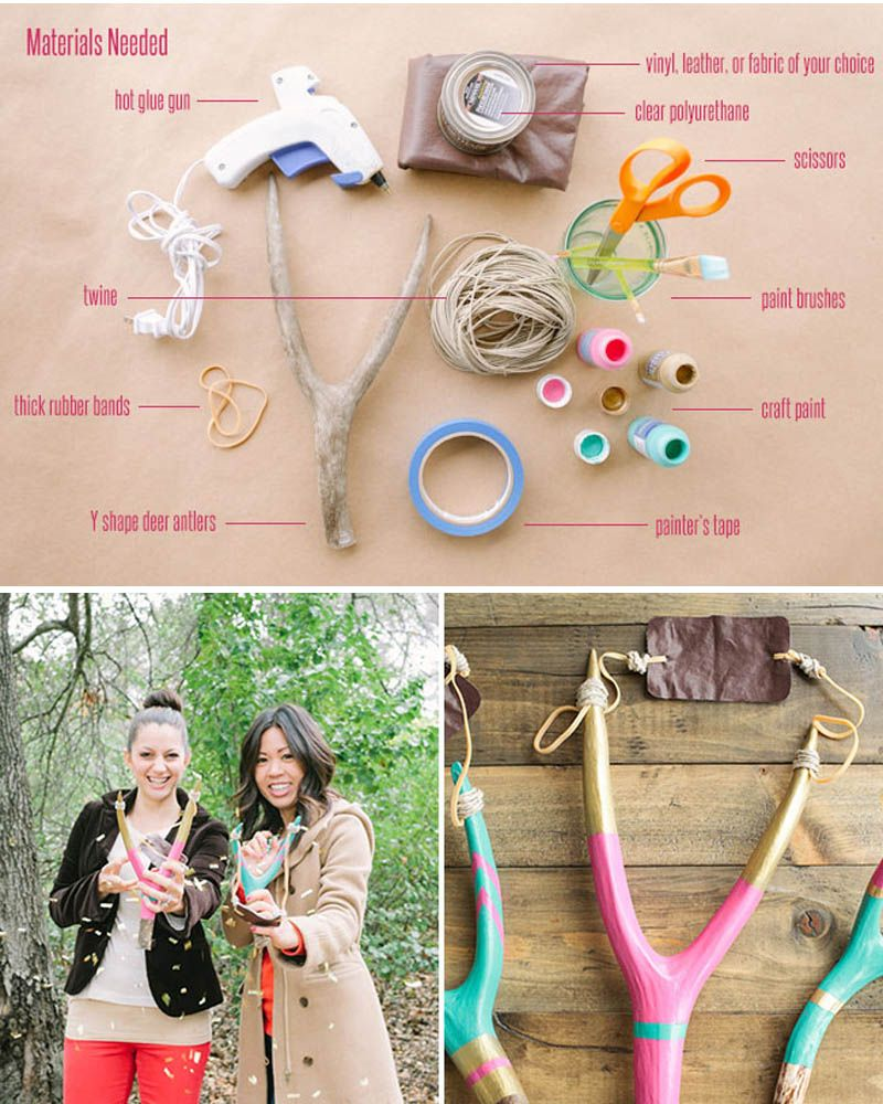 Materials needed for your confetti slingshot.