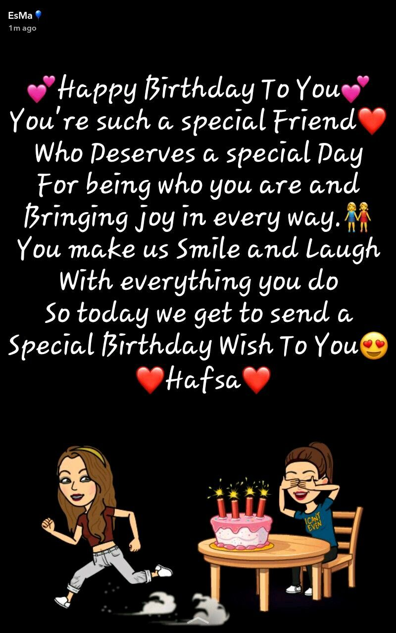 Happy Birthday Hafsa Bilal Asma Mujeer Happy Birthday Quotes For Friends Friend Birthday Quotes Birthday Quotes For Best Friend