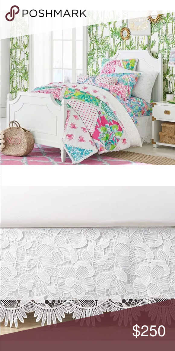 Pottery Barn NEW Full Size Bedskirt This Lilly Pulitzer