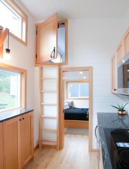 "28' ""Albatross"" Tiny House on Wheels by Rewild Homes #tinyhousebathroom"