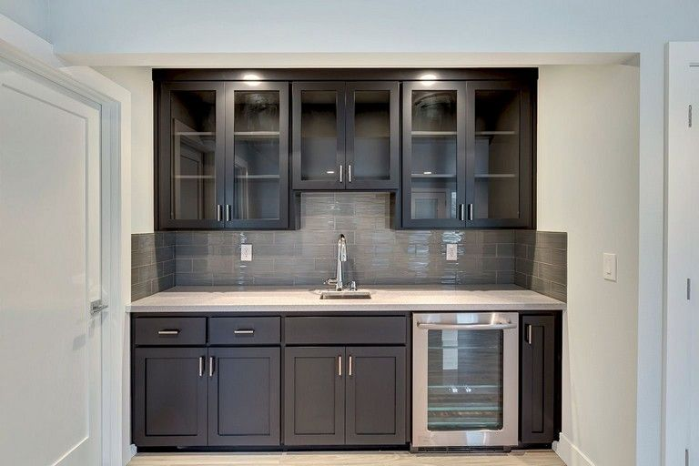 80 Beautiful Kitchen Backsplash Decor With Dark Cabinets With