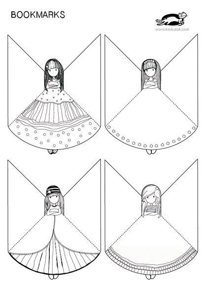 Un bonito marcalibros para niñas que pueden pintar a su gusto Espero ...