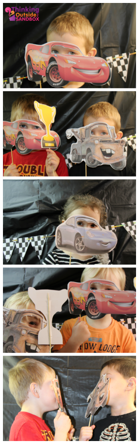 Disney CARS Photo Booth Party Activity DisneySide Photo booth