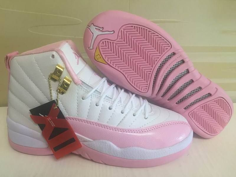 huge discount 446d0 f52bc ... good 2019 outlet e6d9f 09abe top quality girls air jordan 12 gs pink  lemonade pinkwhite gold