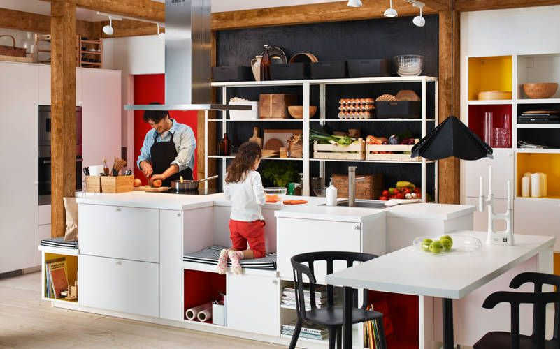 Love The Bench Idea For Kids Ikea Catalogue 2015 Ikea Kitchen Kitchen Inspirations Open Plan Kitchen Diner