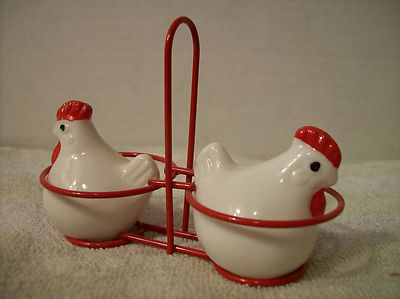 Vintage Chicken in Basket Salt Pepper Shakers | eBay