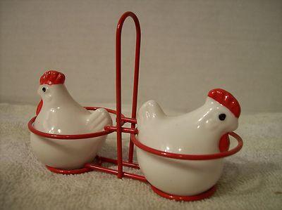 Vintage Chicken in Basket Salt Pepper Shakers | eBay