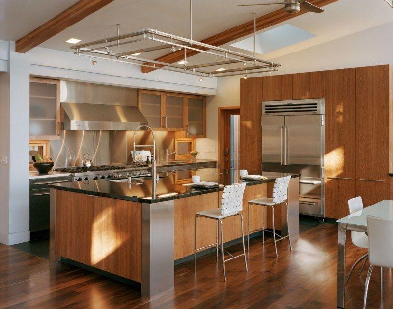 Cuisine rustique contemporaine– 50 idées de meubles en bois ...