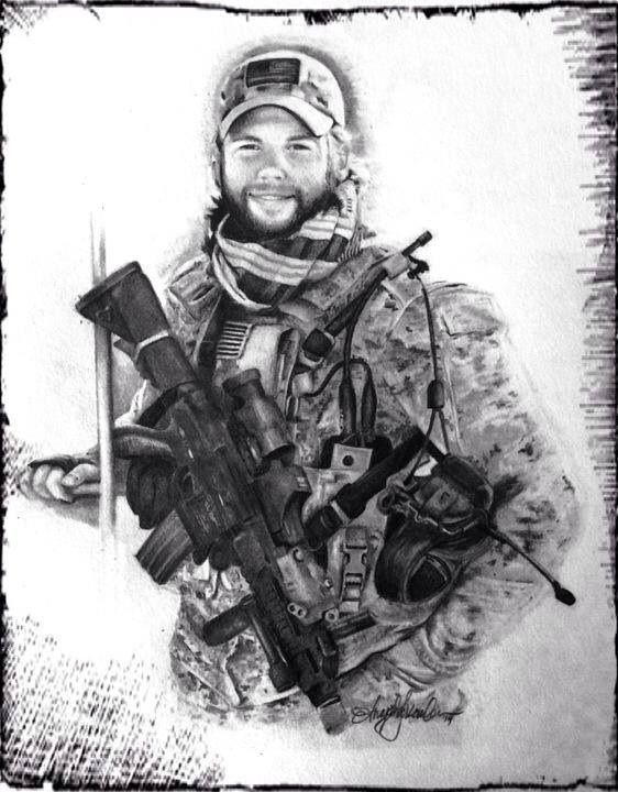 #AmericanHeroesThroughGraphite ...... In memory of Master Chief Petty officer SEAL Brian R. Bill 08.23.79-08.06.11