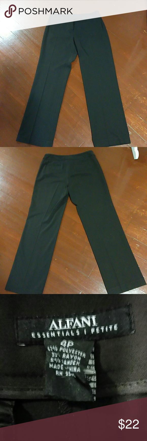 Alfani essentials petite p dark brown dress pants dress pants