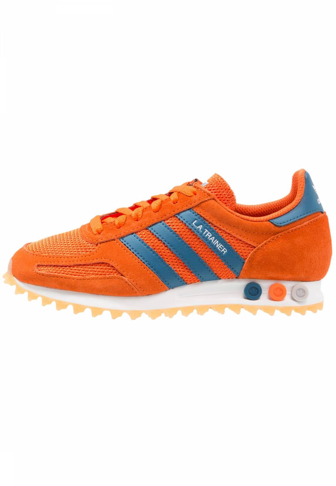 online retailer bd832 96f70 adidas Originals. LA TRAINER OG - Trainers - orange noble teal footwear  white. Care instructions treat with a suitable protector before wear.