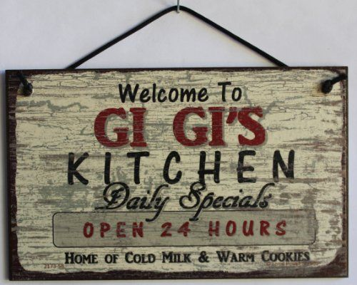 5x8 Vintage Style Sign Saying Welcome to GI GIS KITCHEN Daily - küche vintage look