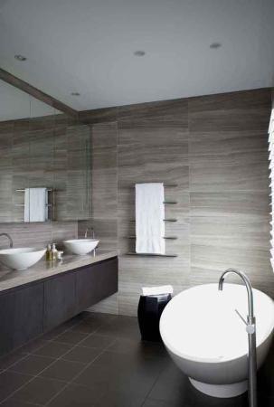 :: BATHROOMS :: INTERIORS :: Design Practice: RLD - Photography: Nicholas Watt, beautiful gray stone bathroom interior #bathrooms #interiors