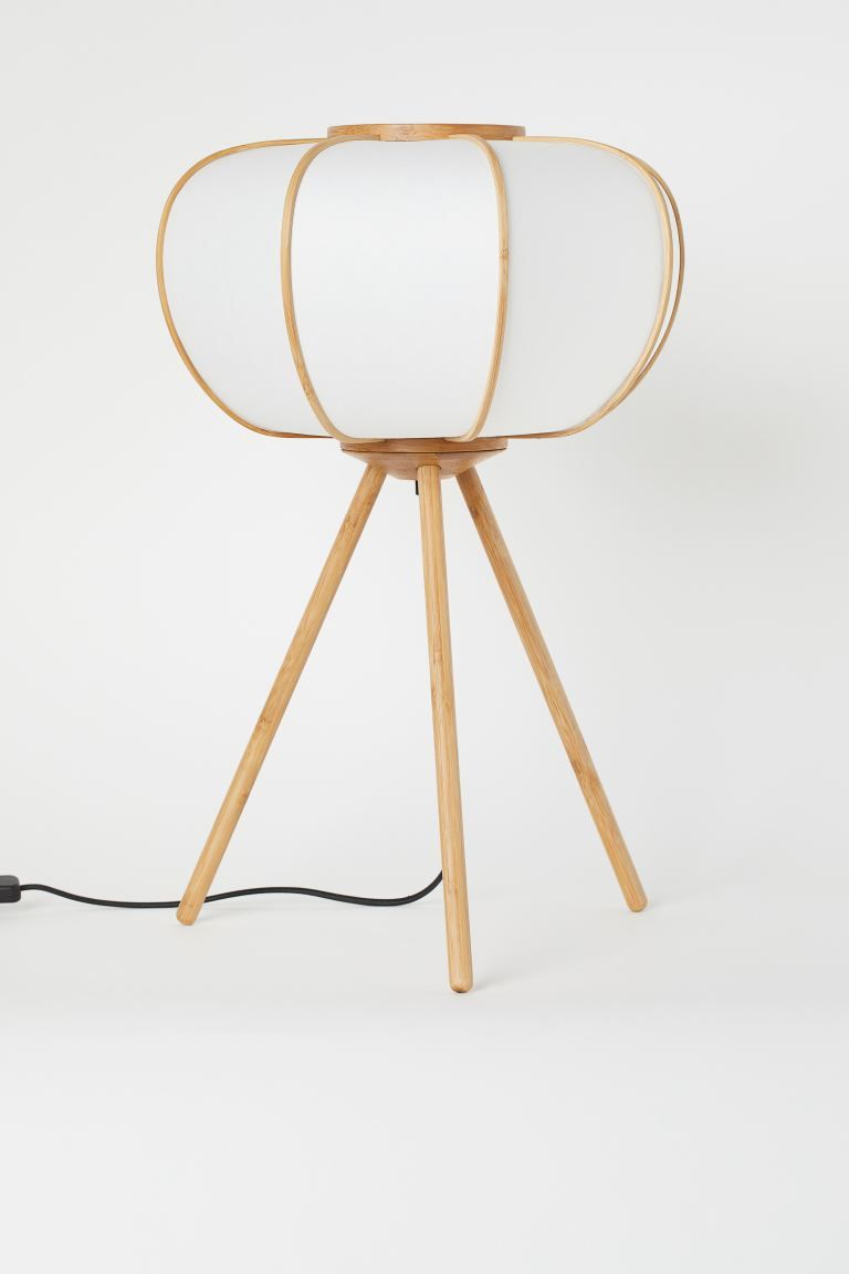 Lampe de sol en bambou - Blanc/bambou - Home All  H&M FR en 10