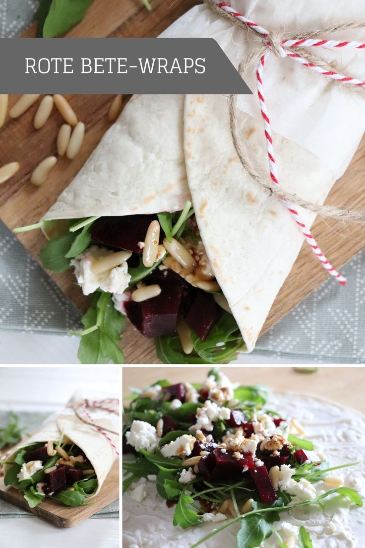 Photo of Recipe: Beetroot wraps with sheep's cheese and rocket lavender blog