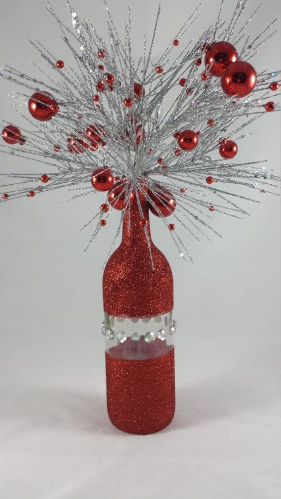 Aparador Sala Ikea ~ Dicas de Enfeites de Natal com Garrafas de Vidro Natal Pinterest Garrafas de vidro