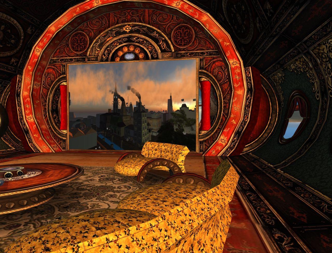 steampunk interior submarine interior of flying submarine steampunk inneneinrichtung. Black Bedroom Furniture Sets. Home Design Ideas