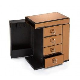 Allure by Jay Copper Mirror Jewelry Box 4 drawers JayCompanies