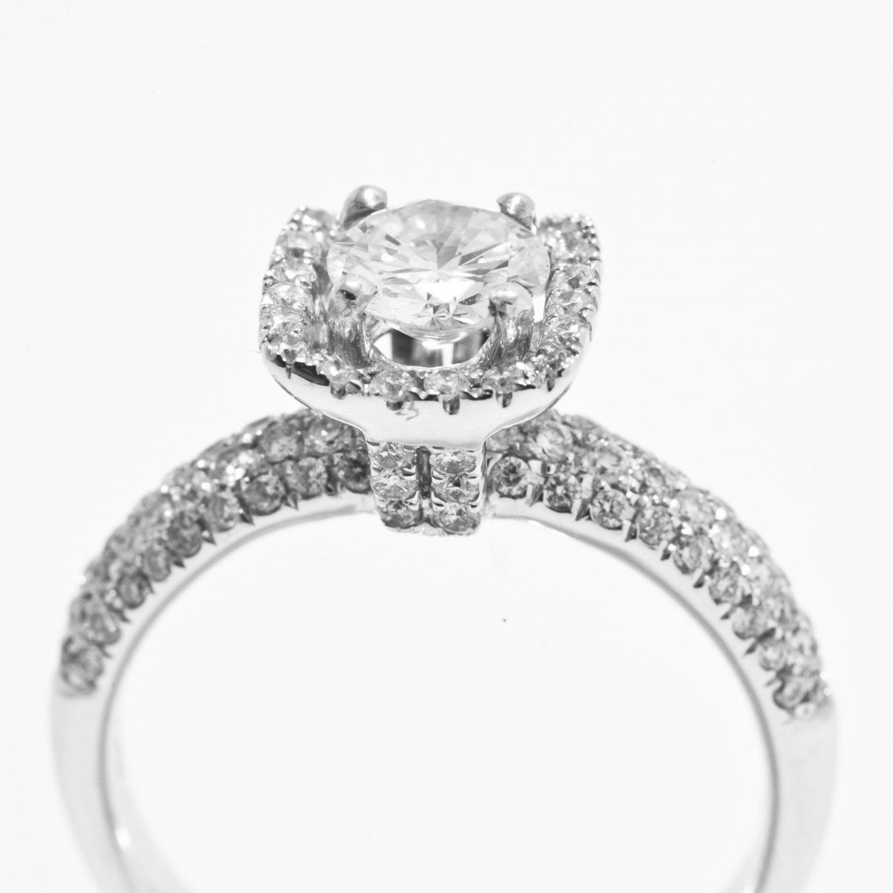 Pave diamond engagement ring pinterest engagement