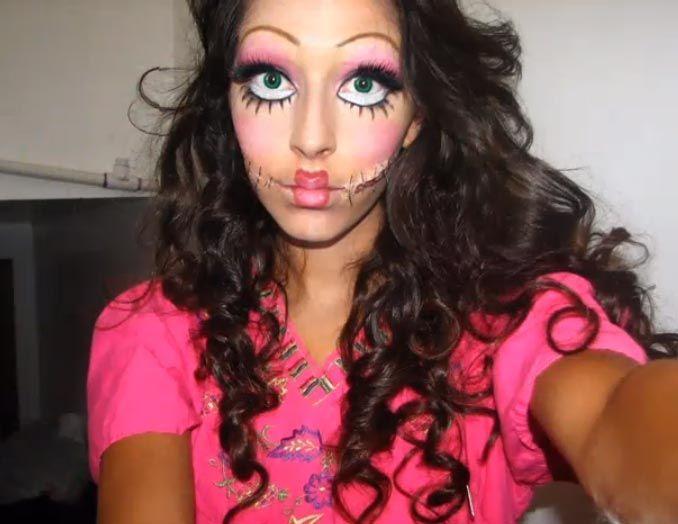 Creepy doll halloween | Halloween Makeup | Pinterest | Dolls ...