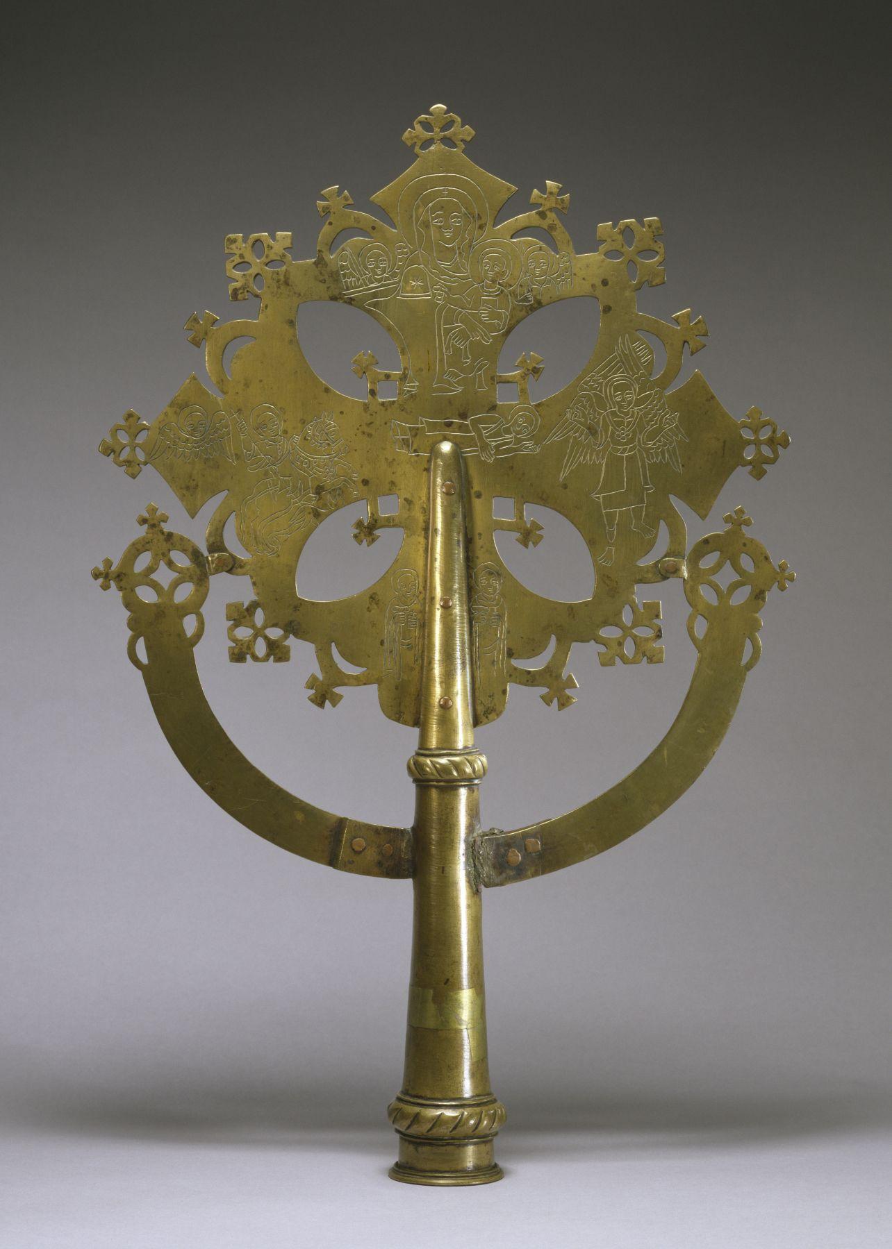 Ethiopian Gondar cross, late 18th Century, 53cmX35cm, brass, Walters Art Museum 542893