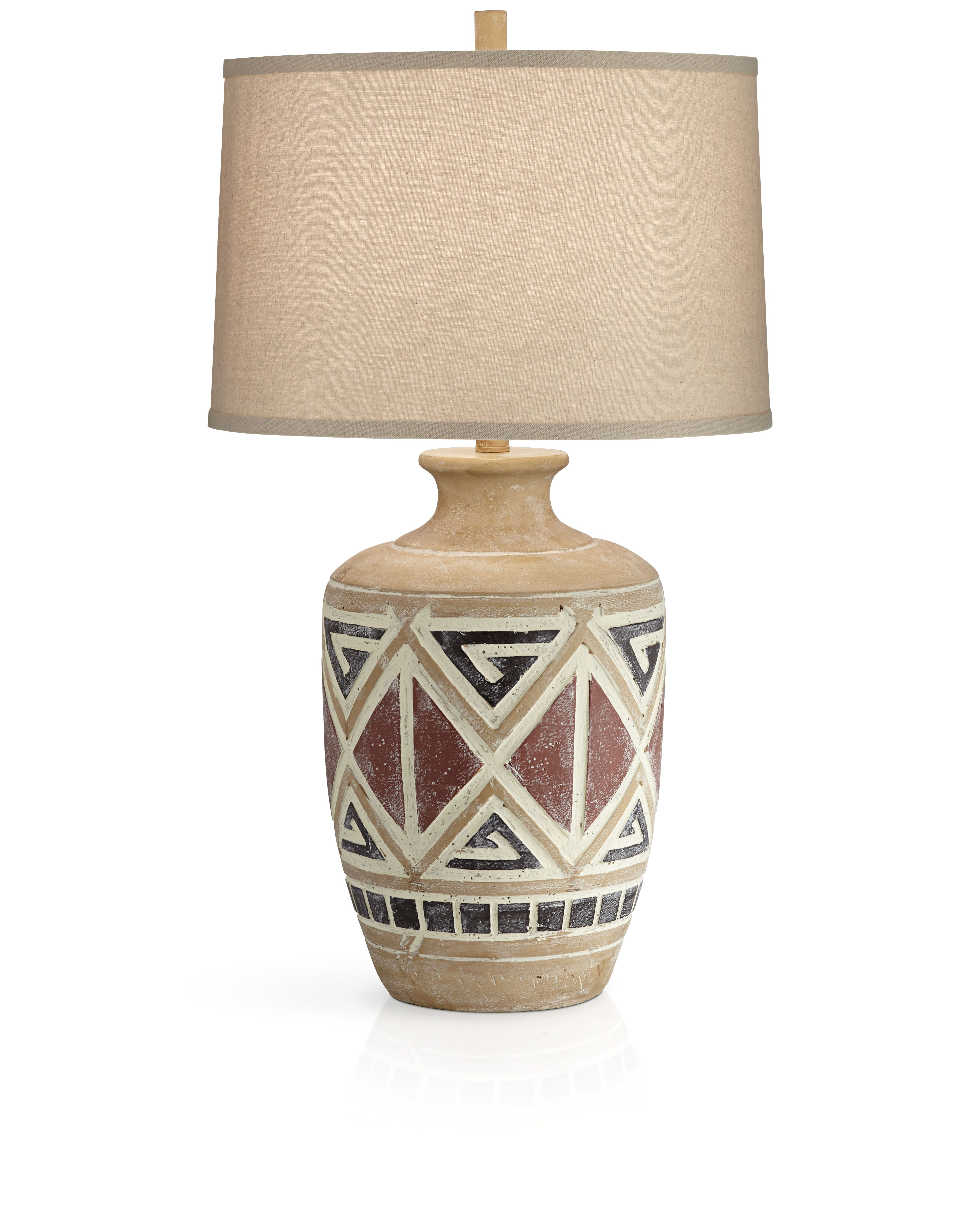 Casual and southwest inspired table lamp.  #casual #casualstyle #casualdecor #casualhome #southwest #southweststyle #lighting #lamps #patterns #tribal #home #homedecor #homedecorating #livingroom #livingroomdecor #bedroom #bedroomdecor #interiordesign #interiorinspiration