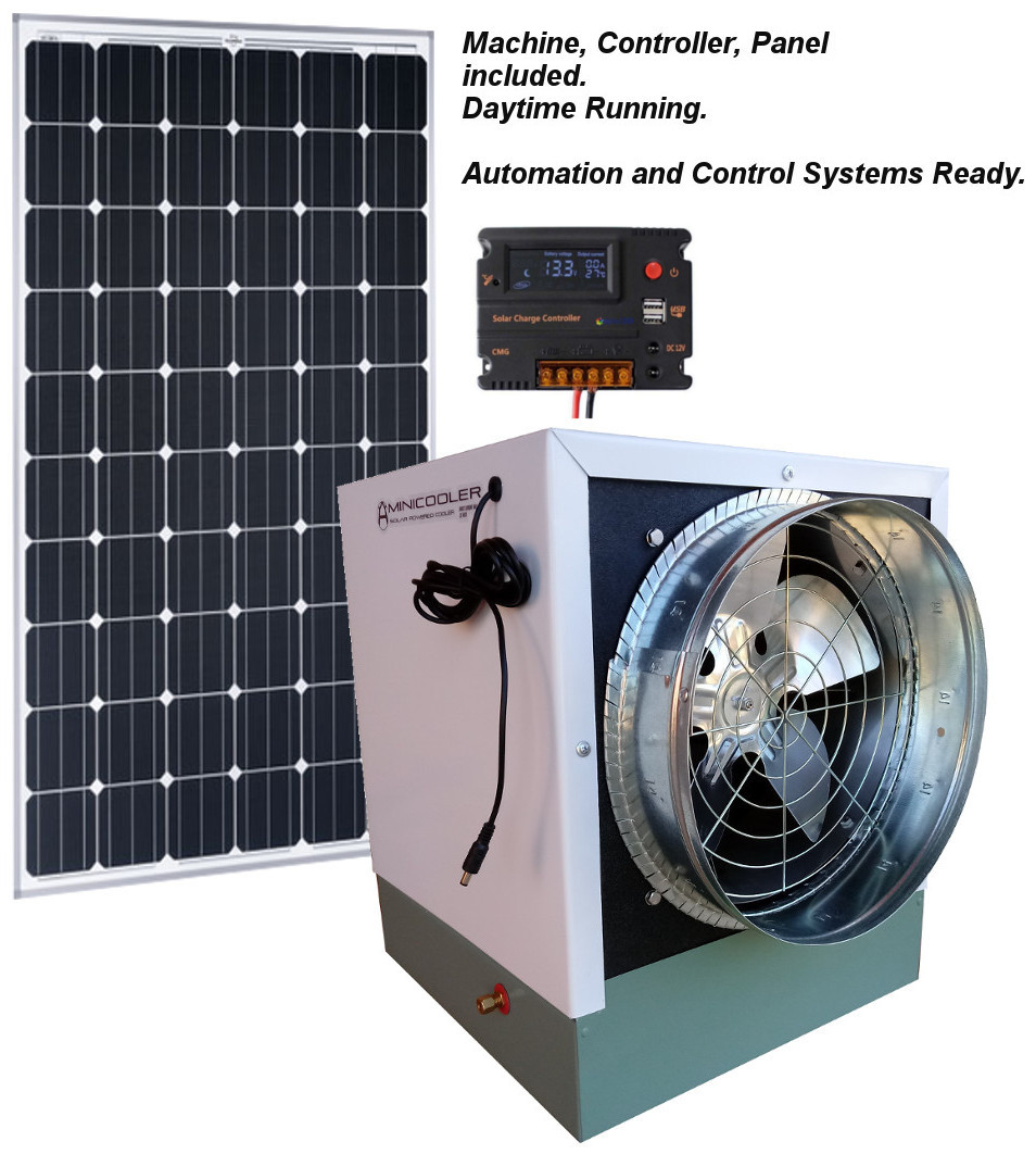 Minicooler 1000 Cfm With 100 Watt Solar Panel In 2020 100 Watt Solar Panel Solar Panels Solar