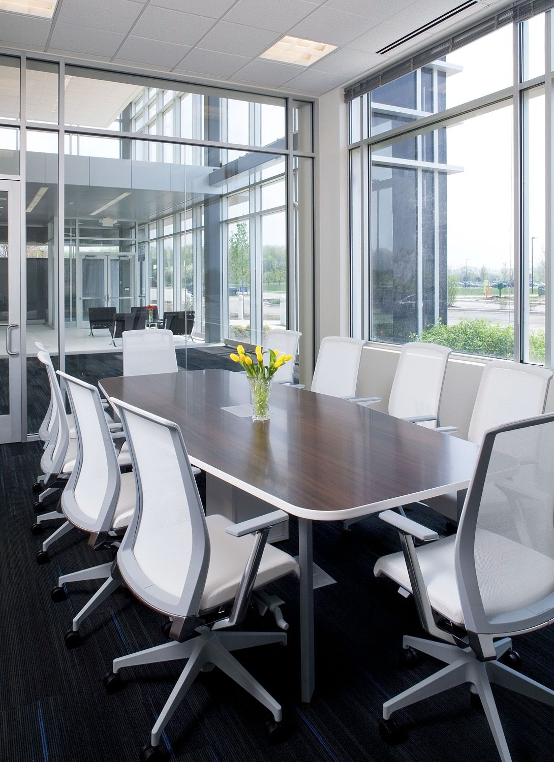 Conference room designed for NSK America by the #WareMalcomb Chicago team. #architecture