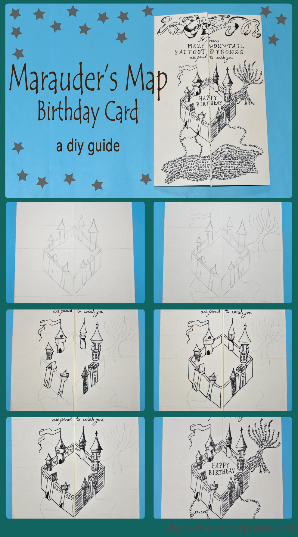 Marauders Map Birthday Card A Diy Guide Learn How To Make The Iconic From Harry Potter Series In This Homemade Tutorial