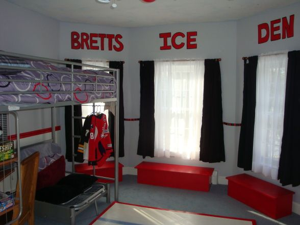Delighful Bedroom Ideas Hockey K With Design Decorating