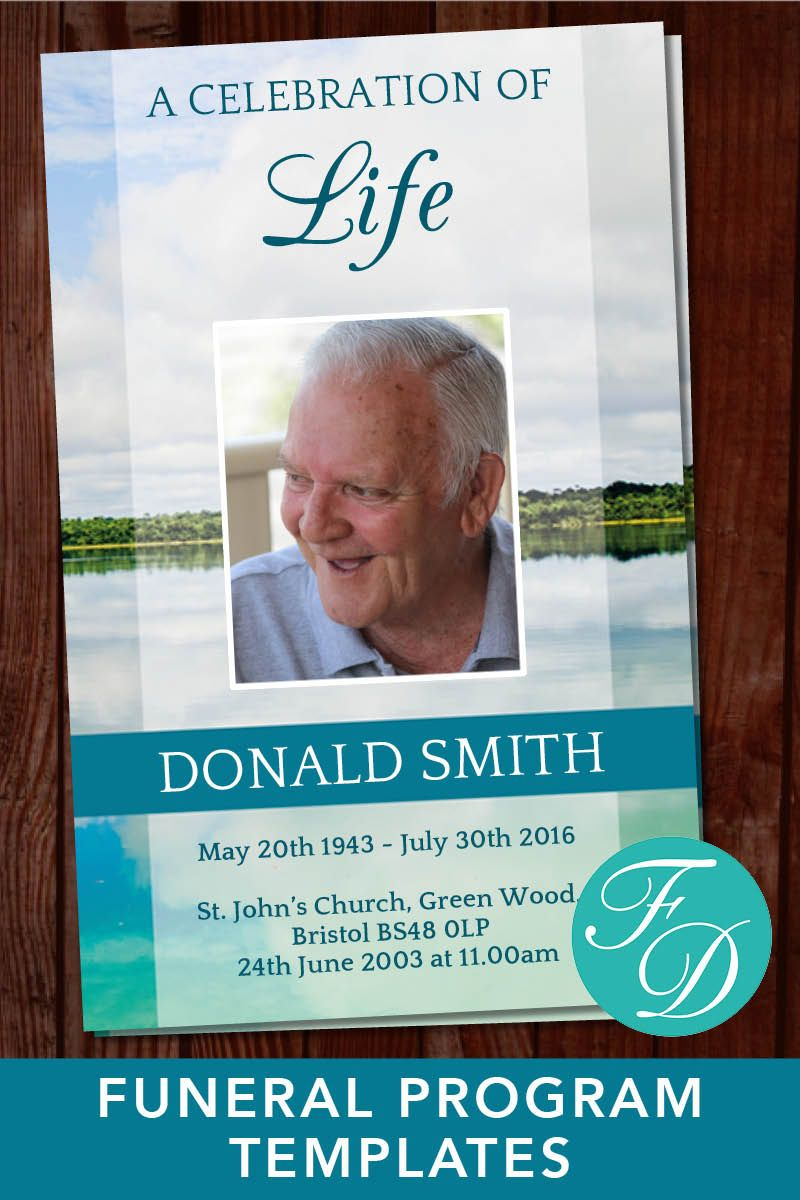 funeral program template celebration of life order of service