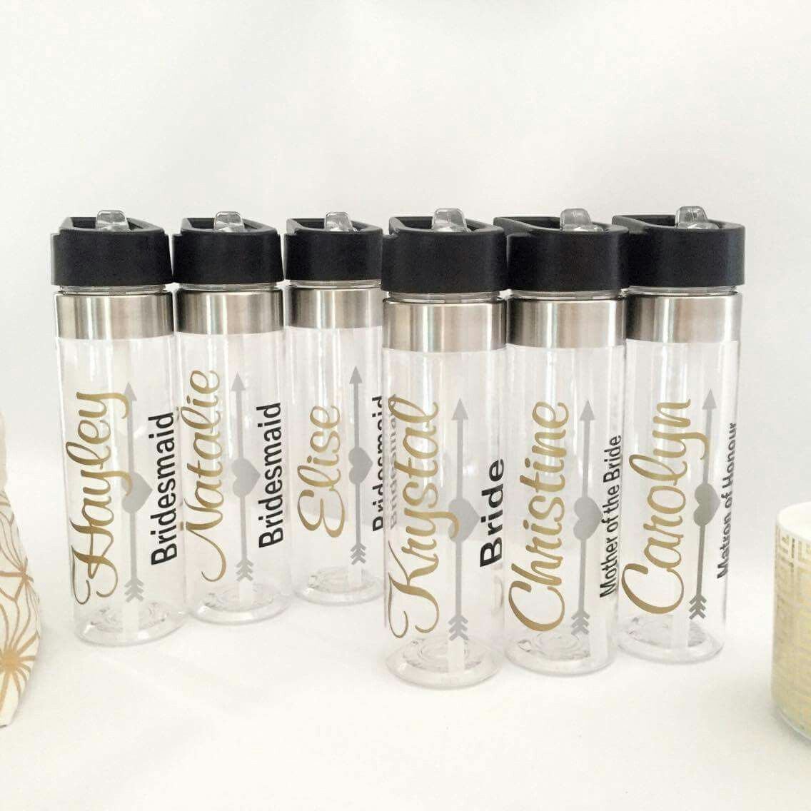 Personalised Wedding Drink Bottles Gifts Gift Idea For Bridesmaids