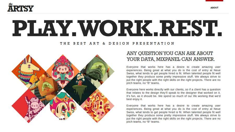 Artsy magazine powerpoint template artsy power point templates artsy magazine powerpoint template toneelgroepblik Images