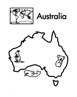 Asia World Map Coloring Page