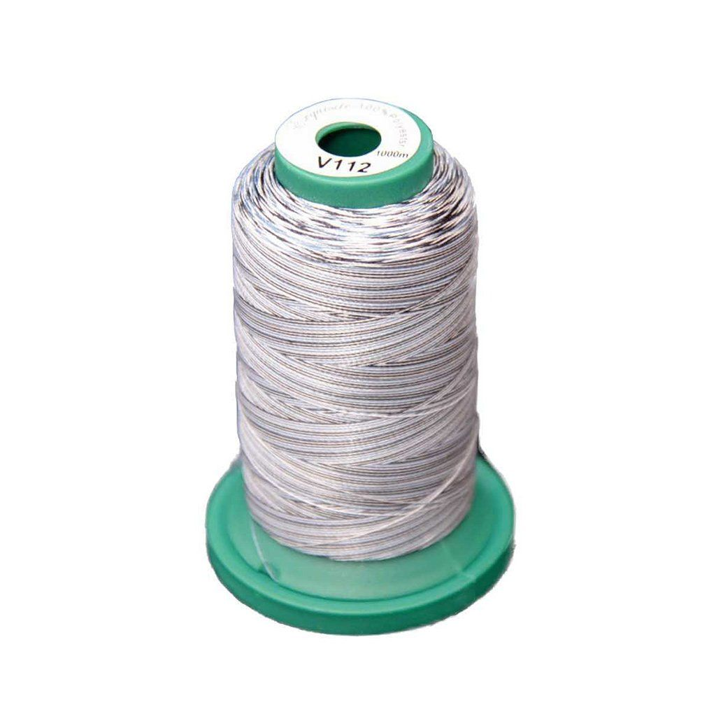 Medley Variegated Embroidery Thread - Salt' N Pepper 1000 Meters (V112) Medley Variegated 40 weight polyester embroidery thread by Exquisite combines premium quality thread with vibrant colors.