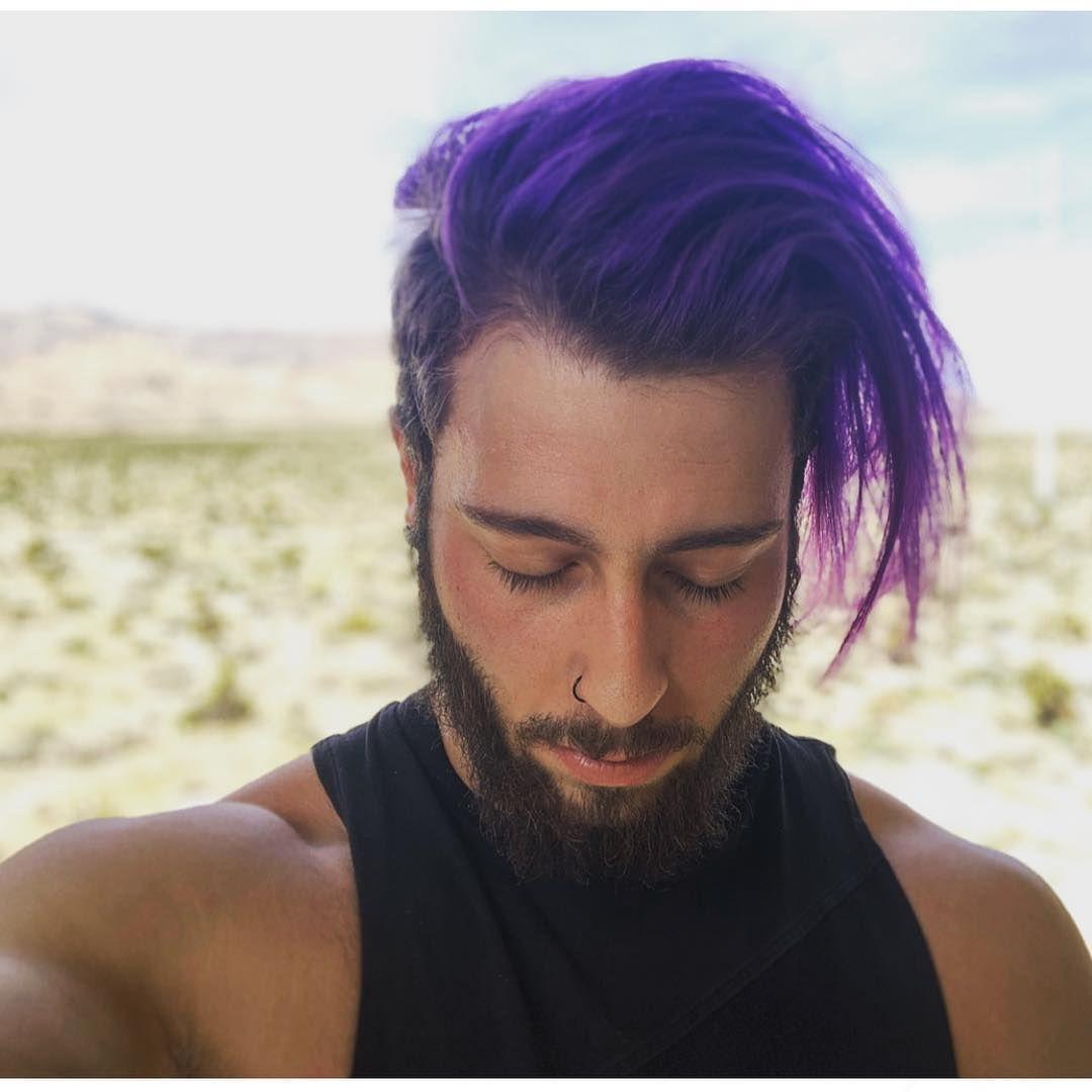 Purple Rain Dyed Hair Men Gorgeous Hair Color Dark Purple Hair