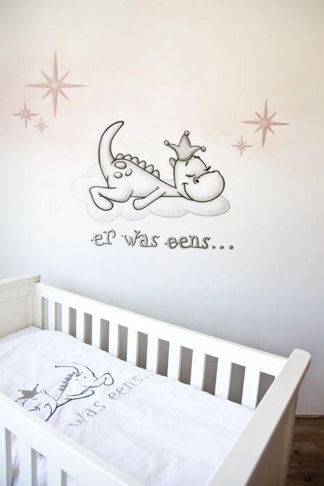 Verwonderend er was eens... Draakje Dirk! Babykamer muurschildering (met OZ-34