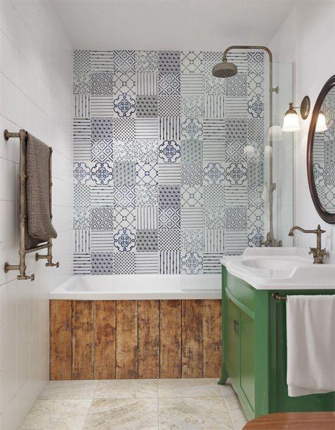 Focalizar la atención en la pared de la bañera es uno de los usos