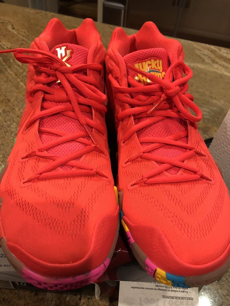 8529907cca78 eBay  Sponsored Nike Kyrie 4 - Lucky Charms Basketball Shoes (Size 10) 100%  Authentic