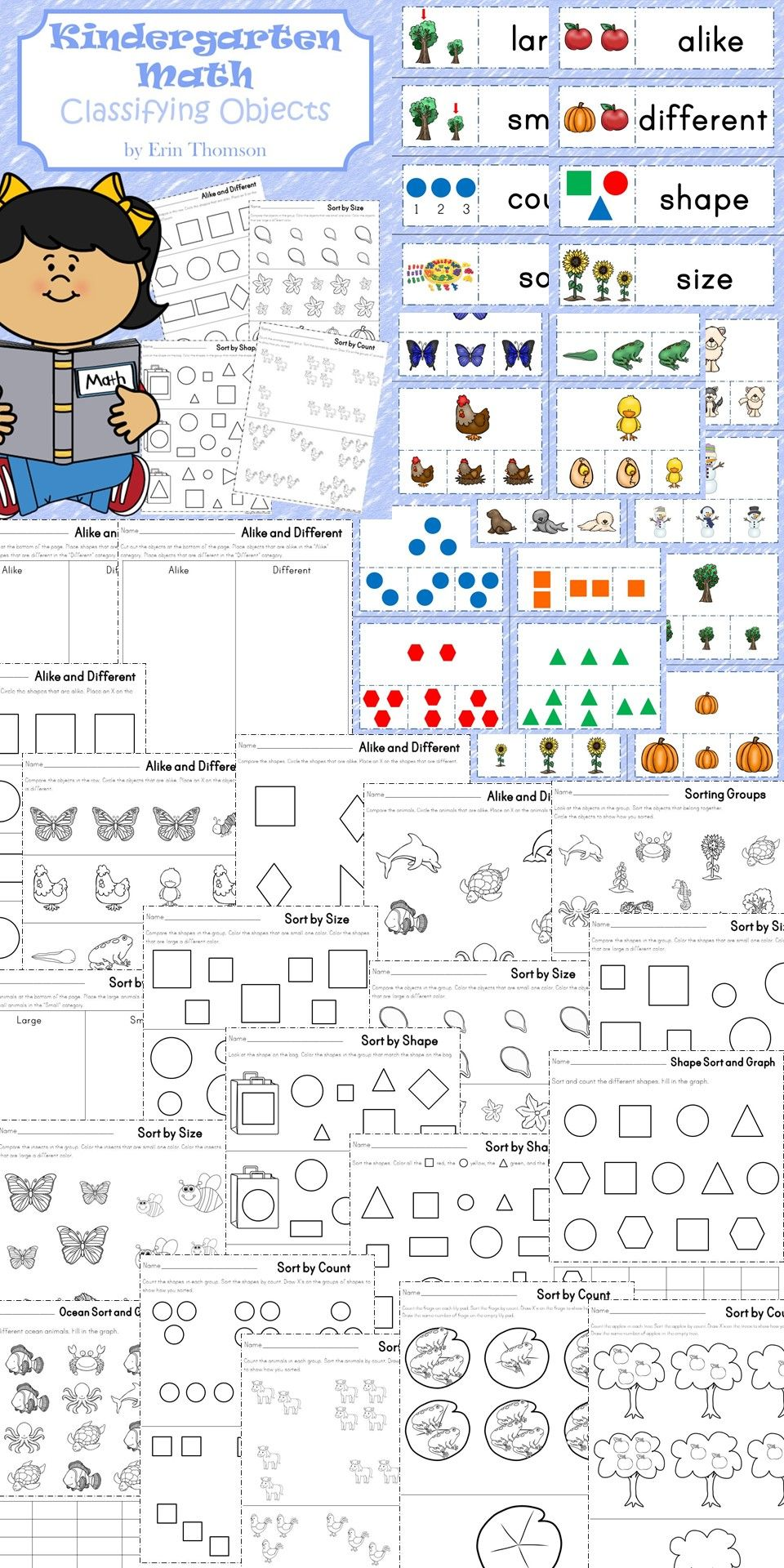 Classifying Objects Unit Sorting Objects Based On Their Size Shape And Count Kindergarten Math Kindergarten Math Units Kindergarten Math Worksheets [ 1920 x 960 Pixel ]