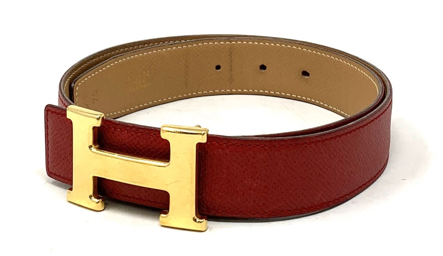 Hermes Brown Leather Chain Belt