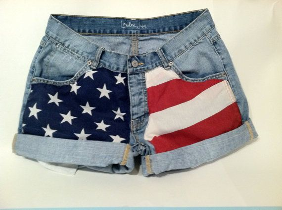 American Flag Jean Shorts | like√ | Pinterest | Bandiera ...