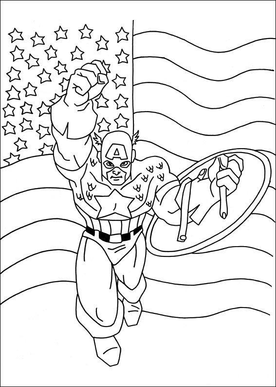 Malvorlagen Captain America 18   Ausmalbilder für kinder   Pinterest ...