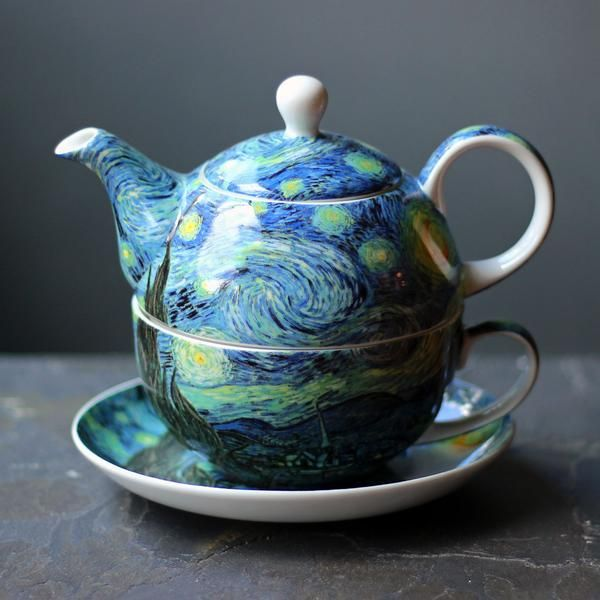 Van Gogh Starry Night Tea for One in Gift Box