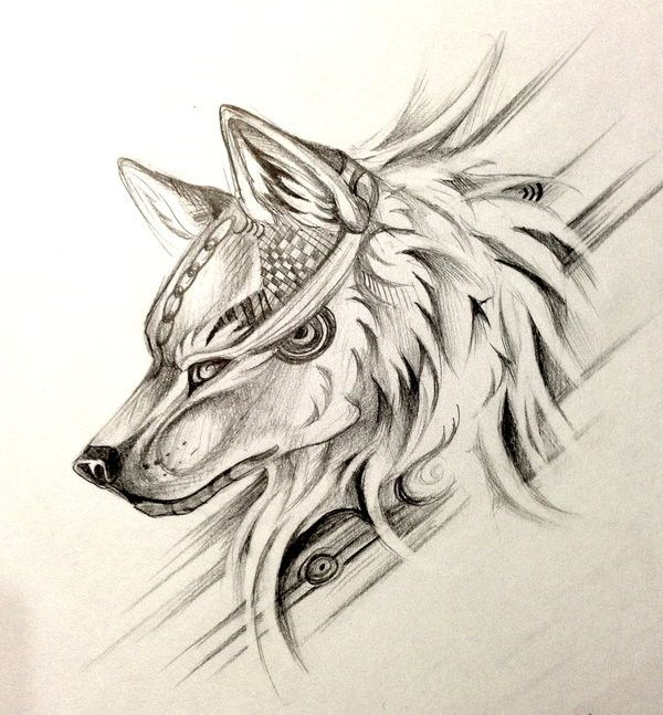 dessin tatouage t te de loup tatoo pinterest. Black Bedroom Furniture Sets. Home Design Ideas